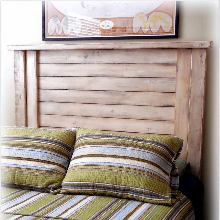 Shutter-Style Headboard - finish: tuscan tan, walnut glazing, medium distressing